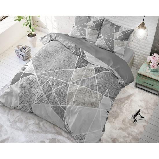 Bavlnené sivé posteľné obliečky FURTRIX GREY