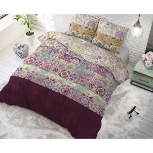 Fialové posteľné obliečky s marockým vzorom
