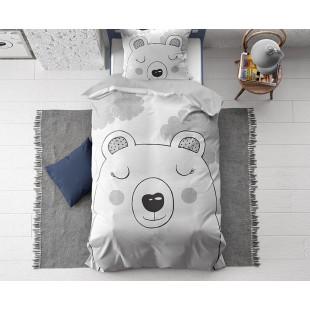 Detské bavlnené posteľné obliečky s mackom