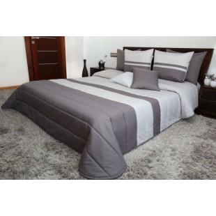 Prešívaný dekoračný prehoz na posteľ v odtieňoch sivej farby