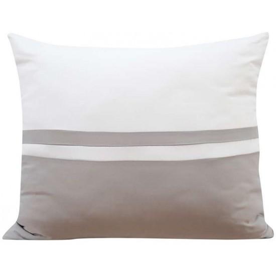 Svetlosivo biela dekoračná obliečka na vankúš