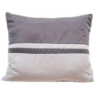 Dekoračná obliečka na vankúš v odtieňoch sivej farby