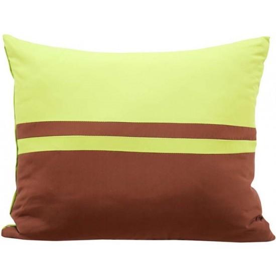 Zelebo hnedá elegantná obliečka na vankúš s pruhovaným vzorom