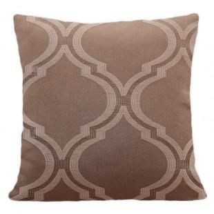 Hnedá obliečka na vankúš s marockým vzorom