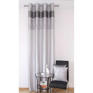 Sivo strieborný elegantný záves na okno