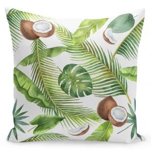 Obliečka na vankúš s kokosovými orechmi