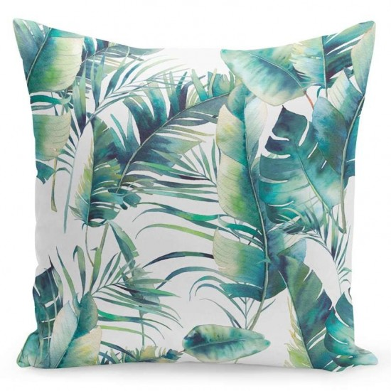 Obliečka na vankúš s palmovými listami