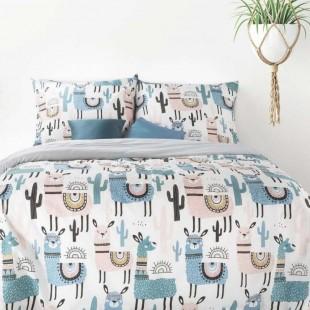 Bavlnené posteľné obliečky s motívom lám