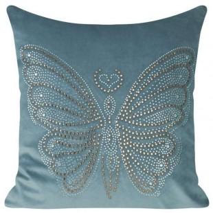 Obliečka na vankúš s kamienkovým motívom motýľa