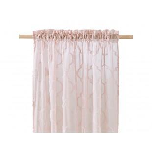 Staroružová záclona na štipčeky s elegantným vzorom