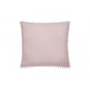 Dekoračná obliečka na vankúš v ružovej farbe s lemom