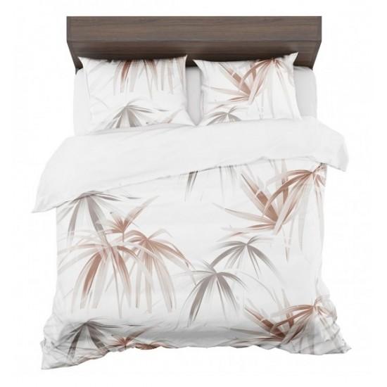Hnedo bielo sivé posteľné obliečky s motívom paliem